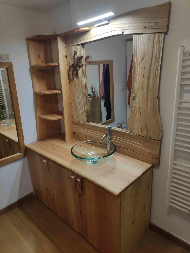Fabrication et pose de deux meubles de salle de bain - terre ...